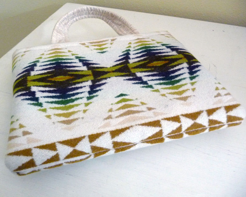 Native American Inspired Wool Fabric Tablet Bag - product images  of