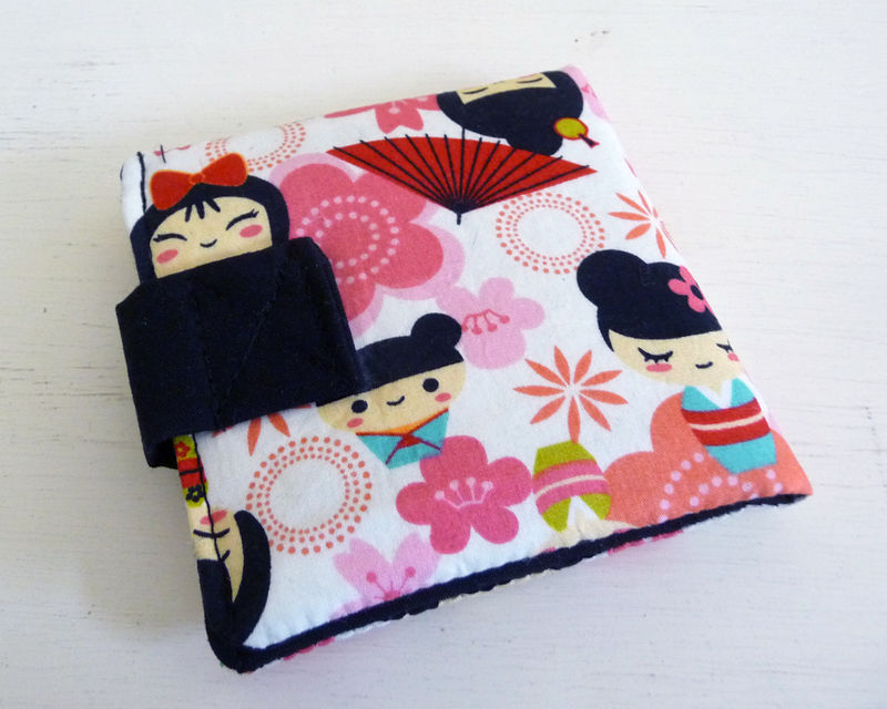 Pink Kawaii Cotton Print Wallet - product images  of
