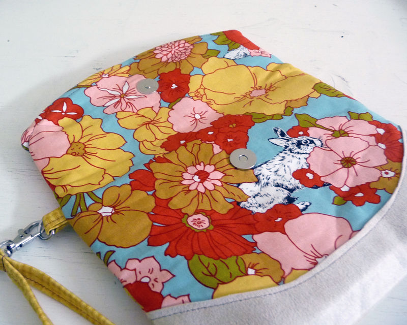 Woodland Floral Foldover Clutch Wristlet Bag - product images  of