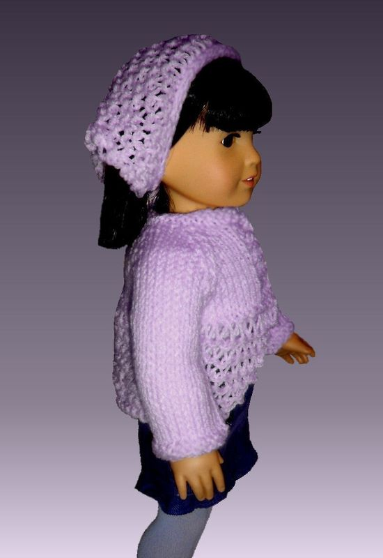 Knitting Pattern, fits American Girl and all 18 inch dolls. PDF AG (Gotz) 019 - product images  of