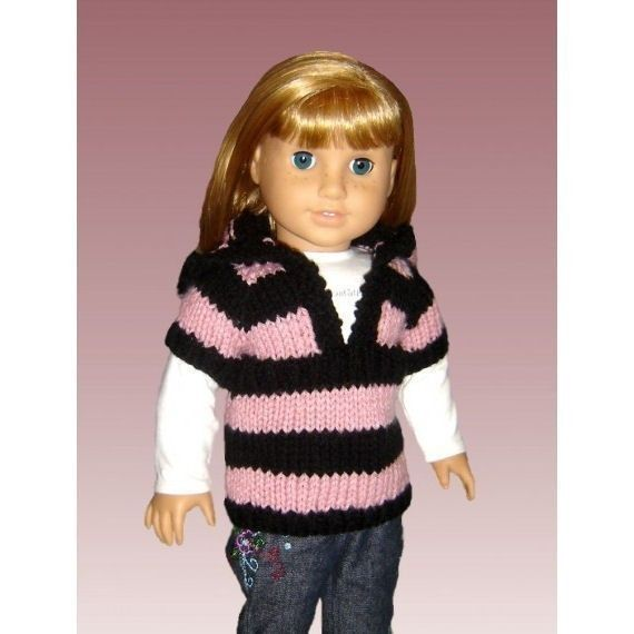 Knitting Pattern for Doll sweater. Fits American Girl and 18 inch, PDF AG (Gotz, Maplelea) 037 - product images  of