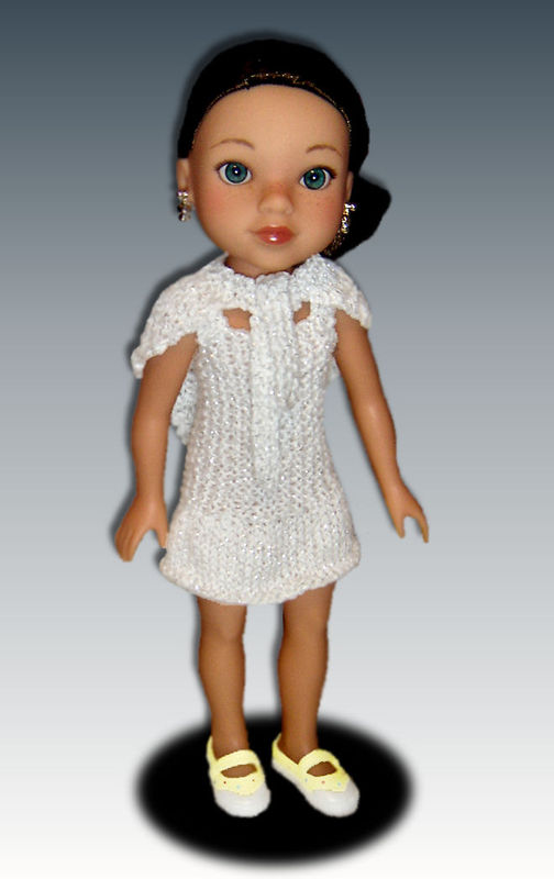 PDF Knitting Pattern. Dress and Shawl Fits Hearts for Hearts Doll. 233 - product images  of