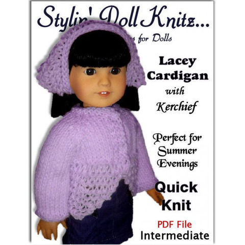 Knitting,Pattern,,fits,American,Girl,and,all,18,inch,dolls.,PDF,AG,(Gotz),019,Patterns,Handmade,doll_clothing,american_girl_doll,18_inch_dolls,gotz,knitting_supplies,knitting_pattern,Maplea_Girls,Madame_Alexander,doll_clothes_pattern,kerchief_pattern,Quick_and_easy_knit,PDF_AG_Pattern,sweater_cardigan,pdf