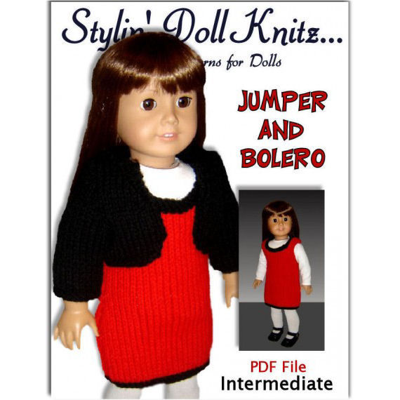 Knitting Pattern, Fits American Girl Doll,18 inch dolls. PDF, AG 017 - product images  of