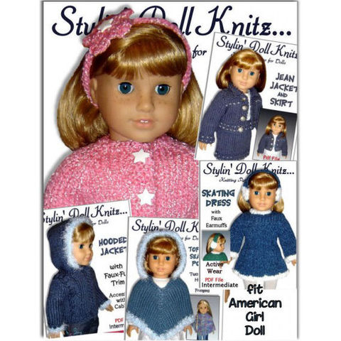 PDF,knitting,Patterns,,Fit,American,girl,Doll,,18,inch,Patterns,Knitting,doll_clothing,handmade,american_girl_doll,Our Generation Dolls,Springfield Dolls,Favourite Friends, Journry Girls, Disney Princess Dolls, Carpatina Dolls,18_inch_doll,maplea_girl,poncho,cardigan,skating_dress,jean_jacket,stylindollknits