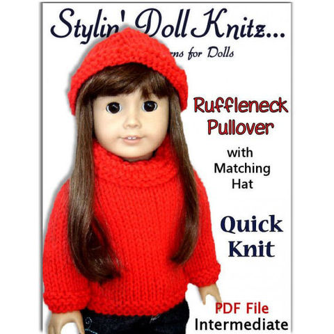 Knitting,Pattern.,Fits,American,Girl,Doll,and,18,inch.,AG,Clothes,PDF,004,Patterns,Handmade,doll_clothing,american_girl_doll,maplea_girl,stylin_doll_knitz,knitting_pattern,doll_clothes_pattern,sweater_and_hat,quick_and_easy_knit,PDF_AG_Knit_Pattern,18_inch_doll,AG_doll_knit_pattern,Gotz_knit_pattern,PDF_knitting_patter