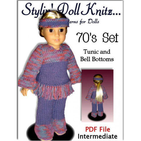 PDF,Knitting,Pattern,for,Dolls.,Fits,American,Girl,Doll.,Tunic,and,Pants.,AG,027,Patterns,doll_clothing,handmade,american_girl_doll,18_inch,knitting_supplies,girls,stylin_doll_knitz,knitting_pattern,pdf_knit_pattern,doll_clothes_pattern,Gotz,tunic_and_pants,knits_for_AG_Julie