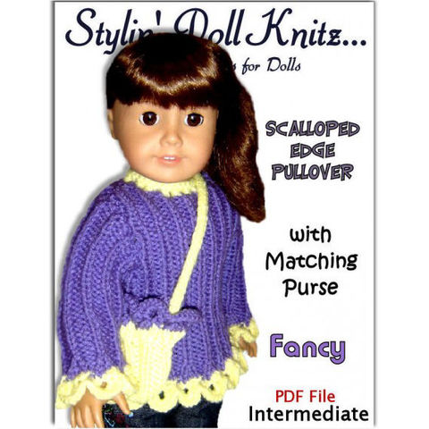 PDF,Knitting,pattern.,Fits,American,Girl,Doll,and,18,inch.,AG,Sweater,006,Patterns,Doll_Clothing,knitting,doll,american_girl_doll,knitting_supplies,children,18_inch_doll,handmade,stylin_doll_knitz,knitting_pattern,doll_sweater,doll_knit_pattern,doll_clothes_pattern,doll_accessories,pdf,pattern