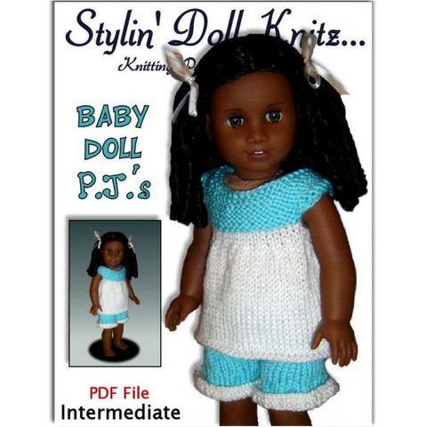 Knitting,Pattern,,fits,American,Girl,and,18,inch,doll.,Pajamas.,PDF,,Gotz,,104,Patterns,Doll_Clothing,knitting_pattern,American_Girl_Doll,18_inch_doll,Baby_doll_pyjamas,pdf_knit_pattern,quick_and_easy_knit,doll_clothes_pattern,Maplelea_Girl,Gotz,Madame_Alexander,AG_Doll_clothing,StylinDollKnitz,Pajamas_for_Cecile,Knitting_pattern,PD