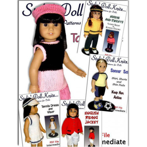 Knitting,Patterns,for,doll,clothes,,Sports,Package,,Fit,American,girl,Doll,,18,inch.,05,Handmade,doll_clothing,knitting,american_girl_doll,18_inch_doll,gotz,maplelea_girl,children,doll_dress,doll_outfits,stylindollknitz,toys,free_shipping,pdf,pattern