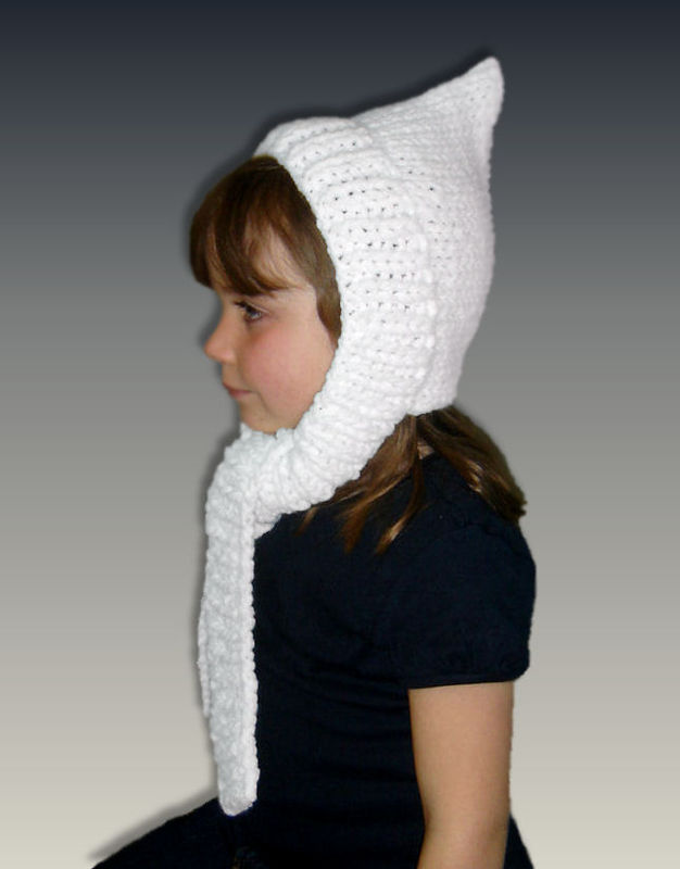 PDF Knitting Pattern. Pixie Hat, Scarf combo. Girls and Kids. 1306 - product images  of