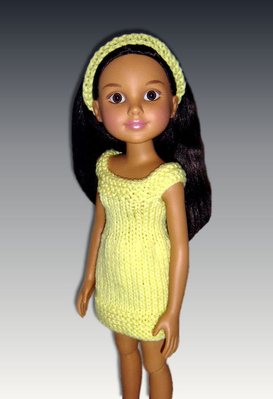Doll Dress knitting Pattern fits BFC Ink. dolls PDF 753 - product images  of