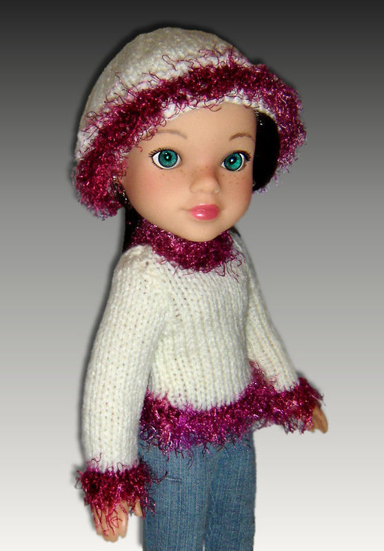 Knitting pattern for doll clothes. Fits Hearts for Hearts Doll. PDF, 255 - product images  of