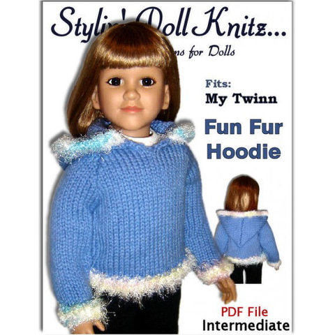 PDF,Knitting,Pattern,fits,My,Twinn,(My,BFF),,23,inch,dolls.,Hoodie,,647,knitting pattern,hoodie,doll sweater pattern,doll clothes,My BFF, 23 inch dolls,My Twinn,knitting tutorial,stylindollknitz,Stylin Doll Knitz