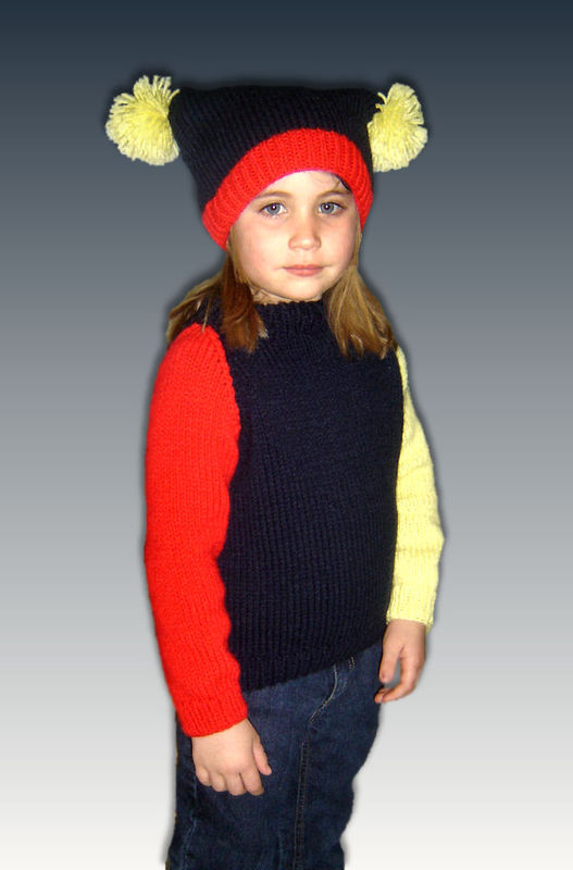 Girls Sweater Knitting Pattern, Raglan Sleeves Pullover  PDF 308 - product images  of