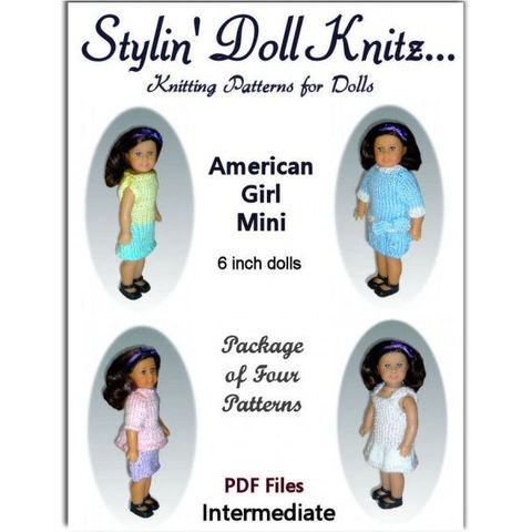 Knitting,Patterns,for,American,Girl,Mini,Doll,,6.5,inch,,99,knitting patterns,american girl mini doll, doll clothes instructions,digital pdf patterns,6 inch doll