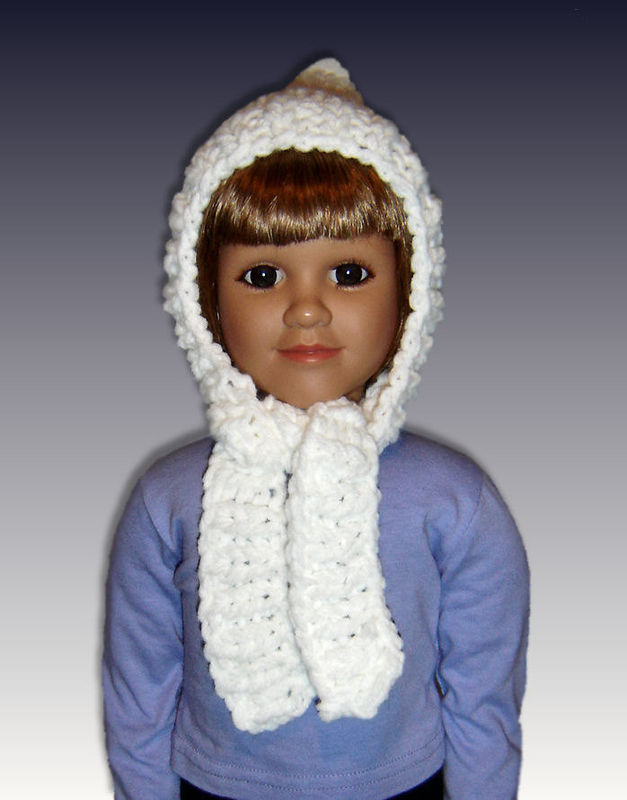 PDF Knitting Pattern, Pixie Hat, Scarf Combo, My Twinn. 23 inch doll 1606 - product images  of