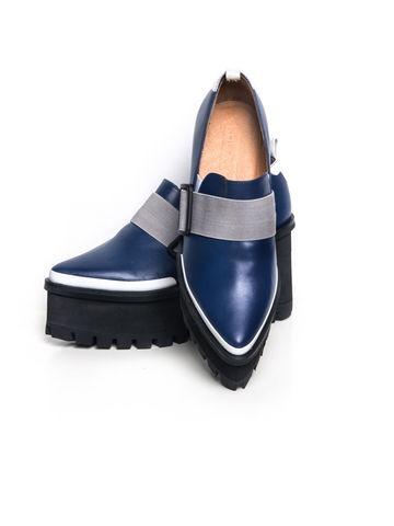 IN,STOCK,-,GEORRIA,LEATHER,PLATFORM,LOAFER,(BLUE)