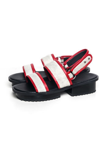 IN,STOCK,-,NIBBANA,LEATHER,SANDAL,(RED)