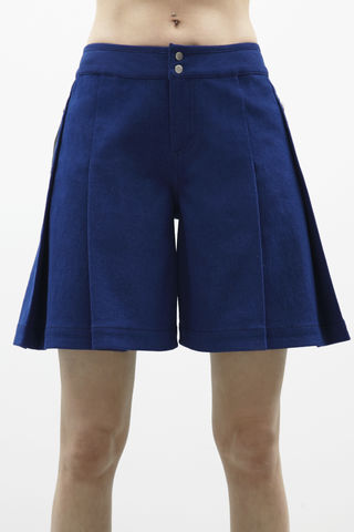 IN,STOCK,-,ALICE,SHORT,Jamie Wei Huang, Resort, RS17, Denim Short, Blue Denim, 100% Hair on Hide