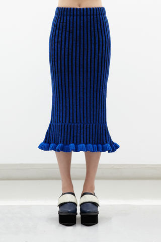 IN,STOCK,-,LILY,CASHMERE,RUFFLE,SKIRT,AW16, LILY, CASHMERE, TOP, RUFFLE, SKIRT, Knitwear, Blue