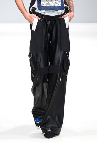MAKE,TO,ORDER,-,WIDE,LEATHER,TROUSERS,Sarnai, Vest, Trousers, Leather, Look 3, JWH, SPRING, SUMMER, 2016, ss16, Jamie, Wei, Huang