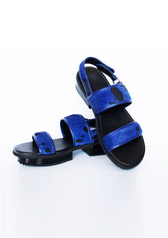 NIBBANA,LEATHER,SANDAL,(BLUE/BLUE),Nibbana, Leather, Sandal, SS16 , JWH, SPRING, SUMMER, 2016, ss16, Jamie, Wei, Huang
