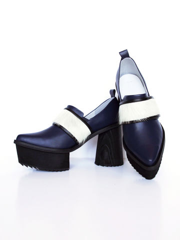 IN,STOCK,-,TUVA,CHUNKY,LEATHER,HIGH,HEEL,(NAVY),Tuva Chunky, High heel, Platform, Comfortable, SS16, Leather shoes