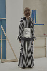 IN STOCK - RICARDA GATHER STRIPE TROUSER - product images 2 of 4