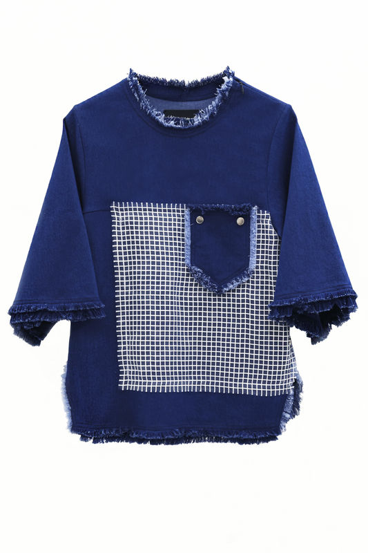 IN STOCK - TESFA DENIM OPEN BACK JUMPER - product image
