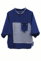 IN STOCK - TESFA DENIM OPEN BACK JUMPER - product images  of