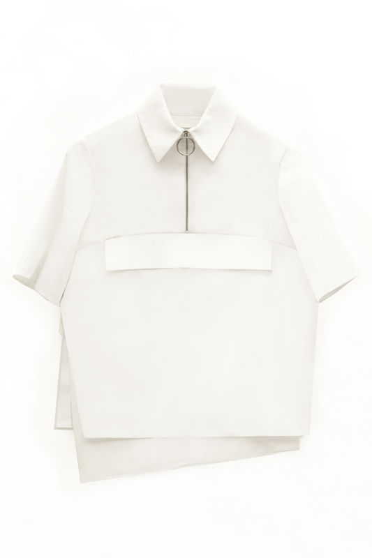 IN STOCK - ALICE SHORT SLEEVE EMBROIDERY SHIRT - product image