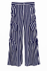 IN STOCK - RICARDA GATHER STRIPE TROUSER - product images 3 of 4