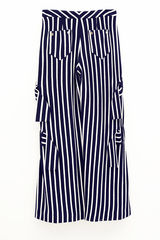 IN STOCK - RICARDA GATHER STRIPE TROUSER - product images 4 of 4