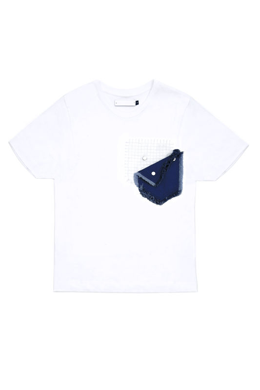 IN STOCK - CONTRAST POCKET EMBROIDERY T - product image