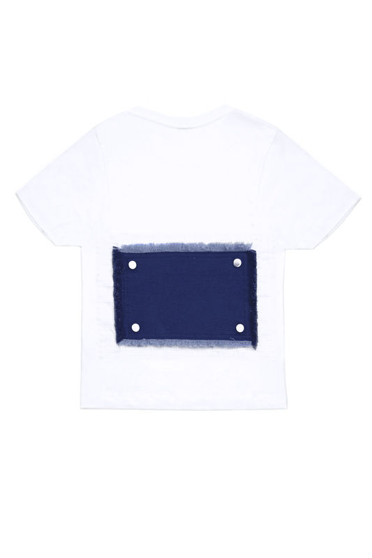 IN STOCK - CONTRAST BACK EMBROIDERY T - product image