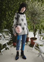 NEW IN STOCK - JACQUARD CASHMERE JUMPER - product images 2 of 3