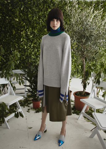 CASHMERE,TURTLE,NECK,JUMPER,Jamie Wei Huang, AW17, Autumn Winter, Turtle Neck, Jumper, CASHMERE TURTLE NECK JUMPER, Grey, Green, Blue, Cashmere, Knitwear, JWH, WINTER, AUTUMN, FALL, 2018, 2017