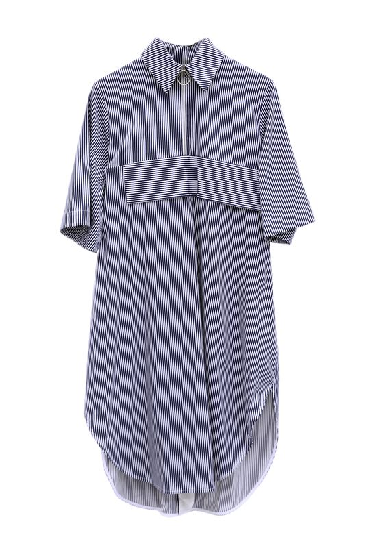 IN STOCK - ALICE EMBROIDERY STRIPE SHIRT DRESS - product image