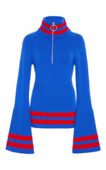 NEW IN STOCK - CASHMERE BELL SLEEVE TOP - product images 1 of 3