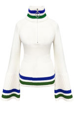 NEW IN STOCK - CASHMERE BELL SLEEVE TOP - product images 1 of 2