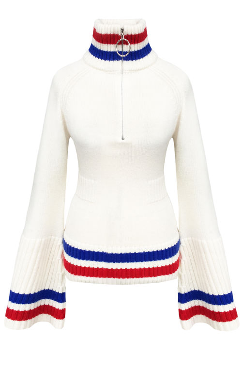 NEW IN STOCK - CASHMERE BELL SLEEVE TOP - product image