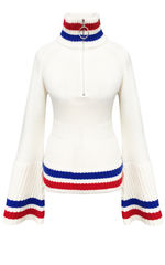 NEW IN STOCK - CASHMERE BELL SLEEVE TOP - product images 1 of 4