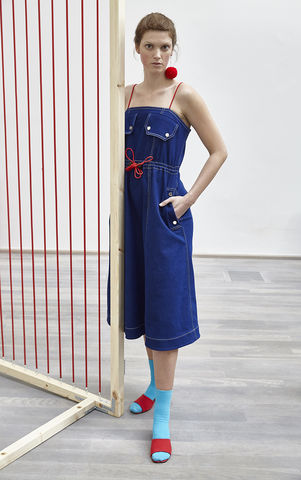 NEW,IN,STOCK,-,ANGELA,DRESS,SS18, blue, denim, waist, red, rope, dress