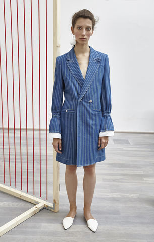 NEW,IN,STOCK,-,TANJA,SUIT,JACKET,SS18, tanja, blue, stripe, denim, long, suit, jacket