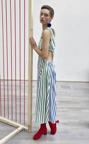 IN,STOCK,-,RUKA,DRESS,SS18, ruka, green, blue, stripe, dress