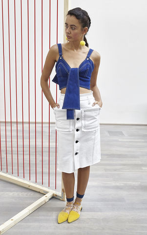 NEW,IN,STOCK,-,TANJA,PENCIL,SKIRT,SS18, tanja, white, denim, pencil, skirt