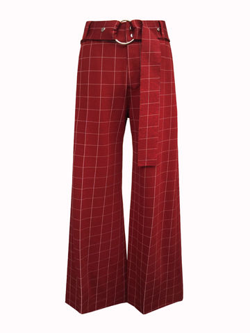 NEW,IN,STOCK,-,LAUREN,CHECK,TROUSERS,Jamie Wei Huang, AW17, Autumn Winter, Check, Trousers, LAUREN TROUSERS, Red