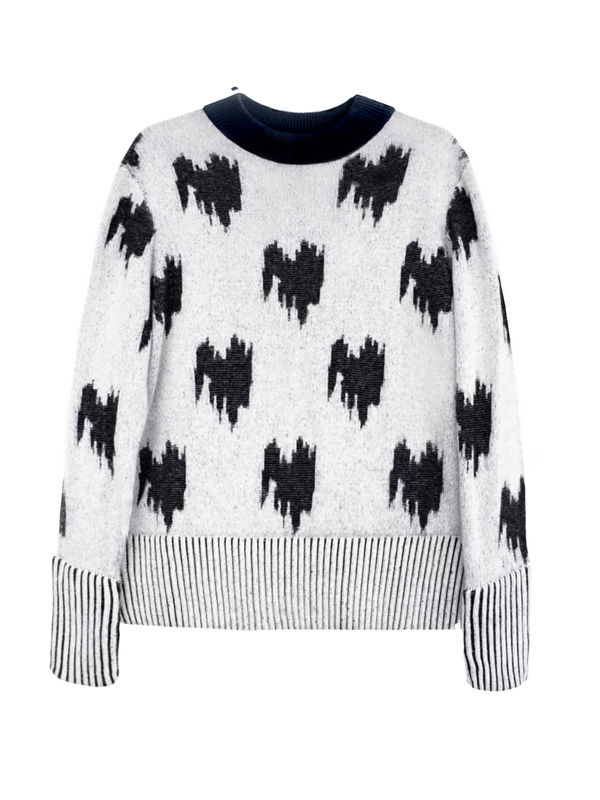 NEW IN STOCK - JACQUARD CASHMERE JUMPER - product image