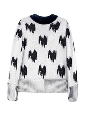 NEW IN STOCK - JACQUARD CASHMERE JUMPER - product images  of